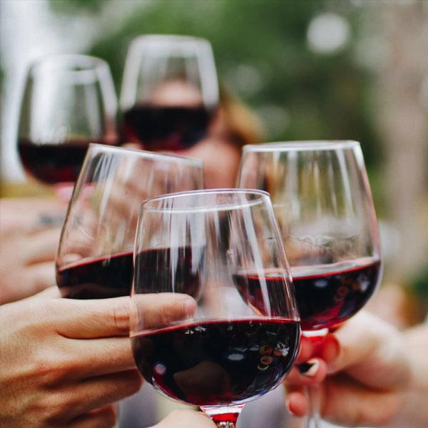 degustacje wina: toast